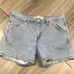 Levi's 515 Light Wash Denim Shorts size 14